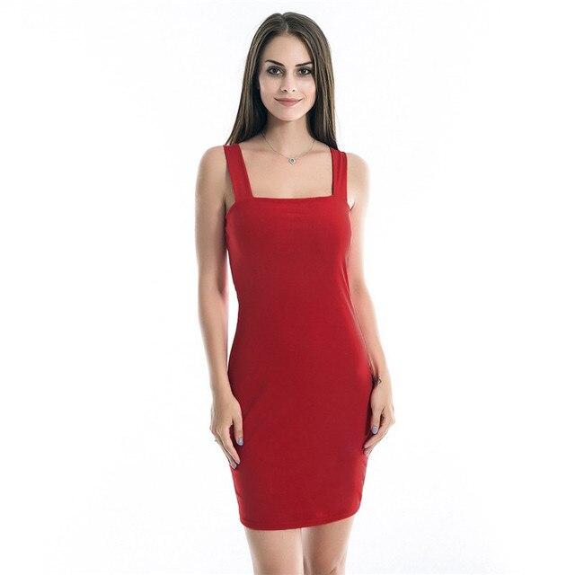 510d3dd6b392 Solid Black Red Sexy Nightclub Dress Women Sleeveless Backless Skinny Mini  Dress Fashion Seamless Vest Dress