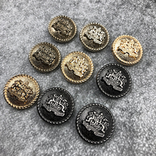 5 Pieces 15mm 18mm 20mm 23mm 25mm 28mm Gold Metal Buttons for Clothing Jeans Button Jacket Clothes Sewing Accessories JODa