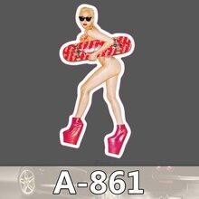 A-861 Lady Gaga Wasserdicht Mode Kühle DIY Aufkleber Für Laptop Gepäck Skateboard Kühlschrank Auto Graffiti Cartoon Aufkleber
