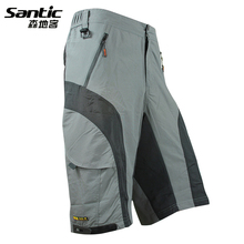 Santic Men Cycling Shorts MTB SHORTS 3D GEL PADDED Coolmax Mountain Bike Shorts Anti-sweat Underwear Downhill Bicyle SHORTS