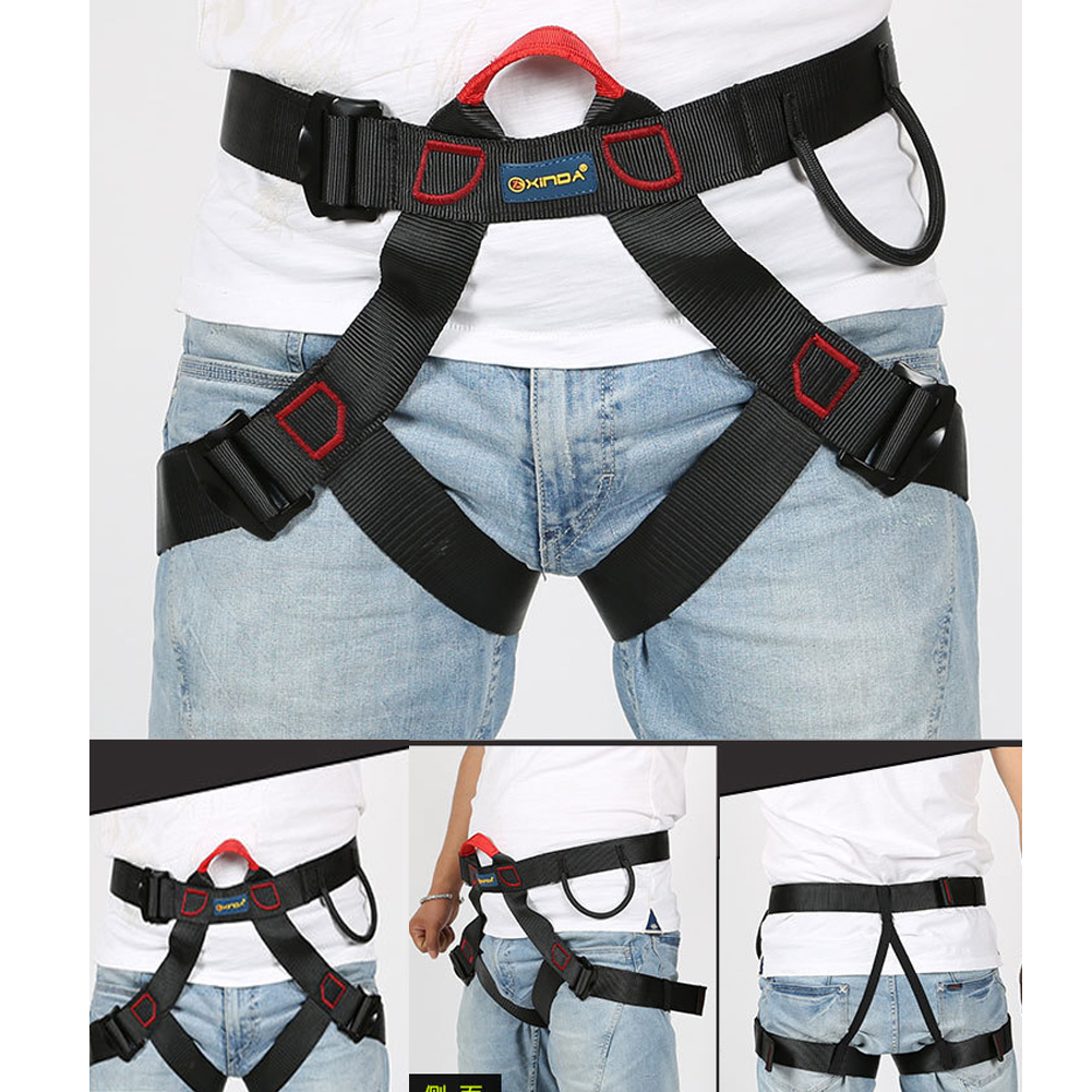 Outdoor Safety Belt Professional Rock Climbing Mountaineering Belt Downhill Rappel Belts Climbing Equipment Rescue Tools multifunctional professional handle pulley roller gear outdoor rock climbing tyrolean traverse crossing weight carriage fit