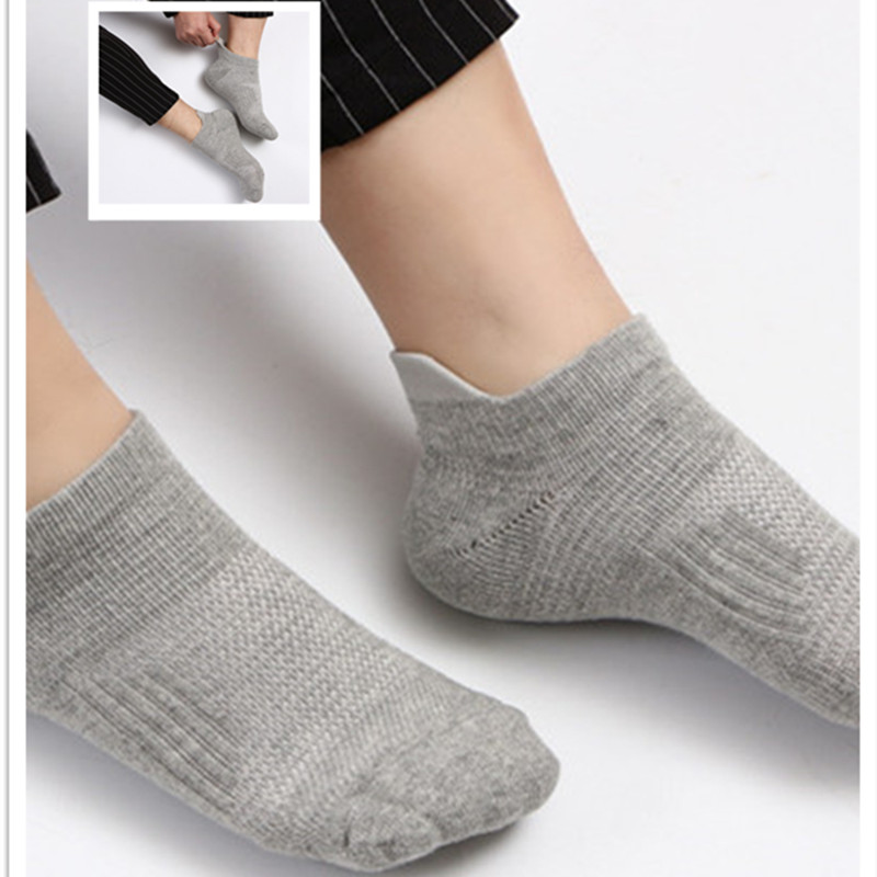 5 Pairs/lot Men Cotton Sweat Shock Absorption Sports Socks for Running Cycling Breathable Antibiotics Athletic Socks Male HEQ503