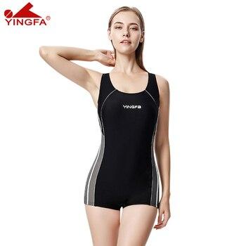 742f3d4834d6 Yingfa fina aprobado una pieza de entrenamiento competencia impermeable  sharkskin resistente mujeres ...
