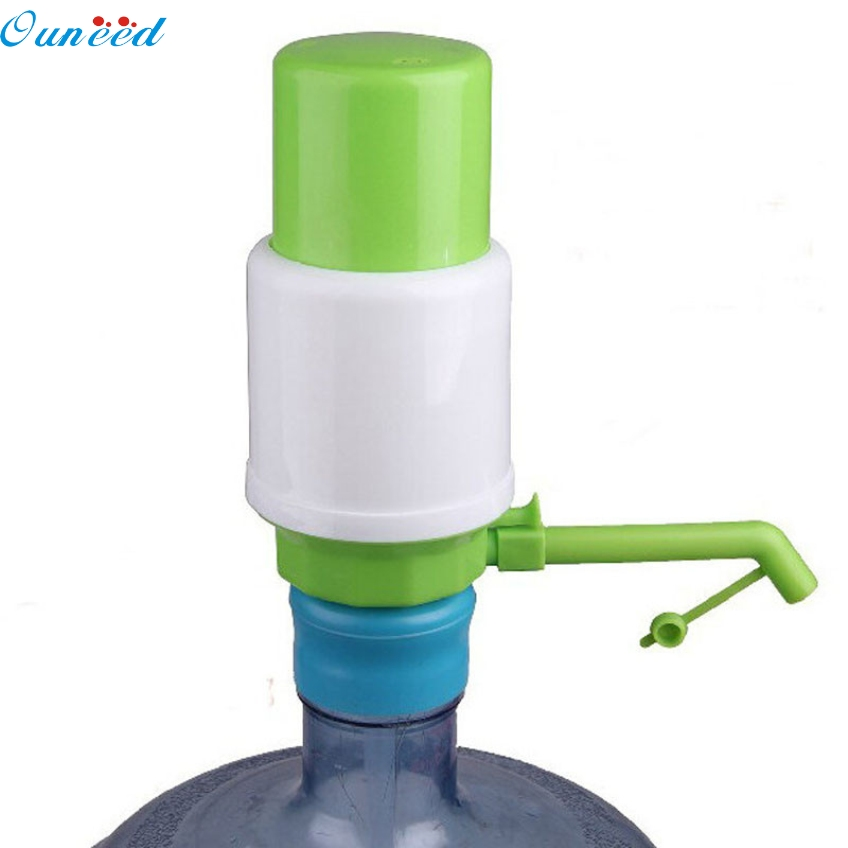 Ouneed Creative 5 Gallon Bottled Drinking Water Hand Press Manual Pump Dispenser Happy Gifts High Quality For Convience water cooler tap water dispenser parts 304 stainless steel wireless electric bottled water pumping unit mineral water pump