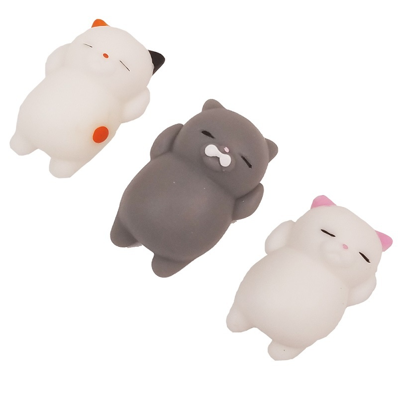 Cute Mochi Squishy Cat Squeeze Healing Fun Kids Kawaii Toy Stress Reliever Decor TPR animal Noverty Toys Anti Stress LZ0001 цена 2017
