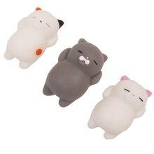 Cute Mochi Squishy Cat Squeeze Ārstnieciskā Fun Kids Kawaii Rotaļlietu Stress Reliever Decor TPR dzīvnieku Noverty Rotaļlietas Anti Stress LZ0001