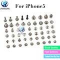 La mejor calidad 100% nuevo completo tornillos llenos juego de tornillos con fondo de reemplazo para iphone 5 accesorios envío gratis