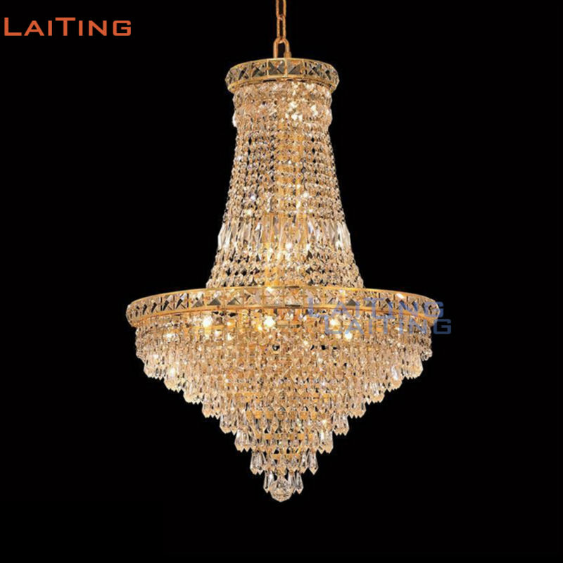 LAITING Classic Foyer Gold K9 Crystal Hanging Lighting Fixture for Dining Room LT-71136 +Free shippingLAITING Classic Foyer Gold K9 Crystal Hanging Lighting Fixture for Dining Room LT-71136 +Free shipping