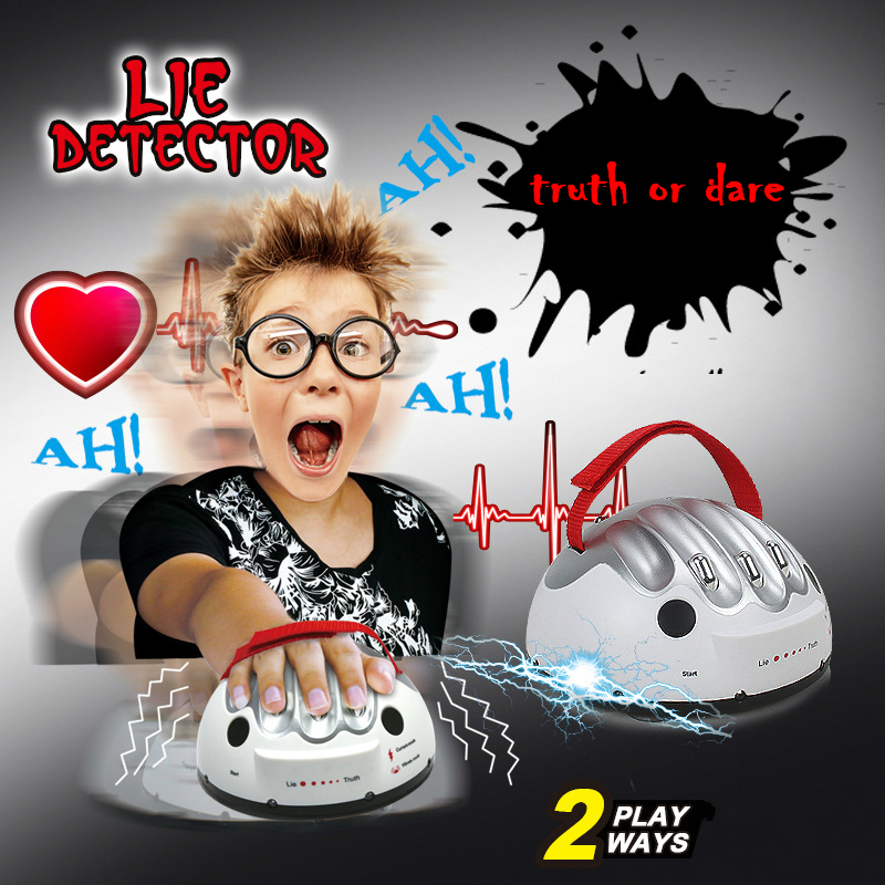 Polygraph Toys Funny Adjustable Adult Polygraph Game Test Electric Shock Lie Detector Shocking Liar Truth Or Dare Game Consoles