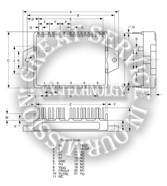 PM52AUBZ060-Intellimod Модуль Активный Фильтр IPM 20 Amperes/600 Вольт