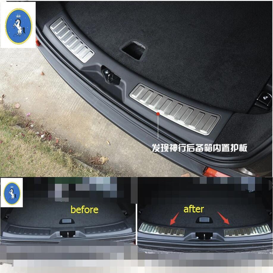 2 db Land Rover Discovery Sport 2015 2016 2017 2018 rozsdamentes acél hátsó belső ajtó lökhárító védőajtó ajtó párnázó lemez
