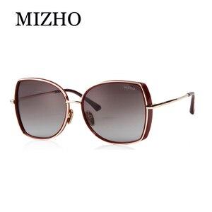 Image 5 - MIZHO marka miedziane metalowe kwadratowe spolaryzowane okulary przeciwsłoneczne dla kobiet gradientowe luksusowe stylowe akcesoria optyczne TR90 okulary damskie ponadgabarytowe