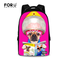 2016 Brand 17 Inch Laptop Backpack Women Large Capacity Travel Backpacks Outdoor Cute Pug Dog Printing