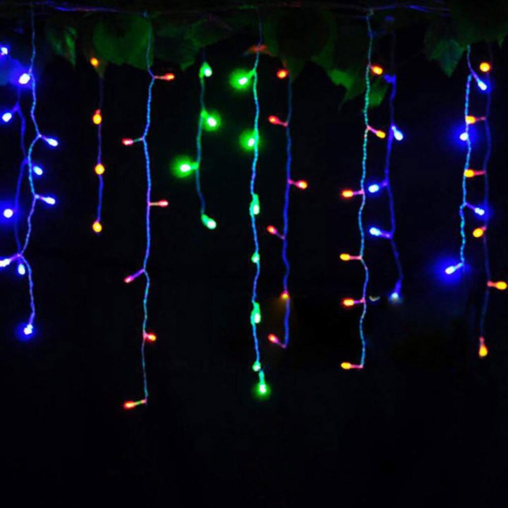 Cortina luzes 220 v/110 v luzes De Natal 4 metros inclinação 0.4-0.6 m decoração de casamento Ano Novo festa de luzes ao ar livre à prova d' água
