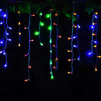 Curtain lights 220V/110V Christmas lights 4 meters droop 0.4-0.6m wedding decoration New Year party outdoor waterproof lights