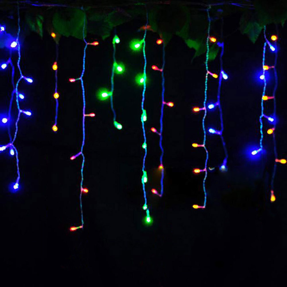 Curtain lights 220V/110V Christmas 4 meters droop 0.4-0.6m wedding decoration New Year party outdoor waterproof