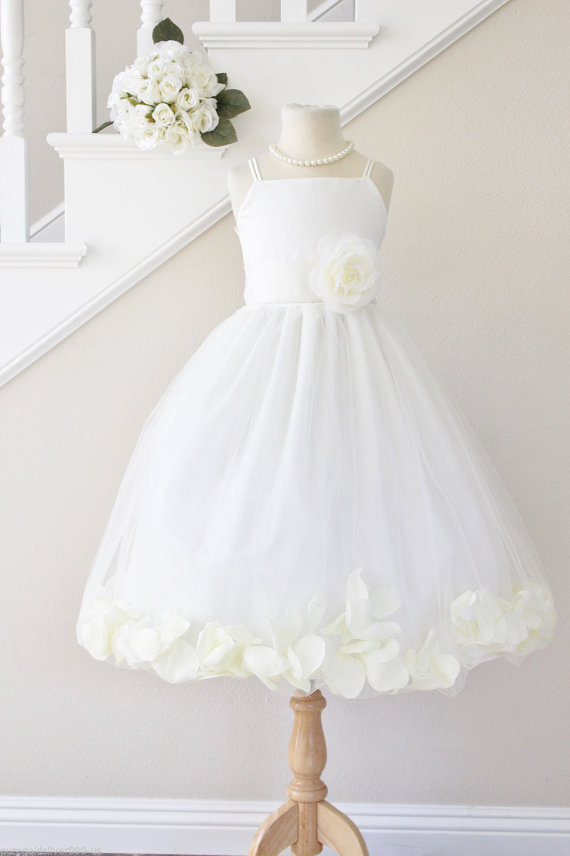 ФОТО New Free Shipping  Flower Girls Dresses For Weddings Tulle Beauty Pageant Dresses for Kids Ankle-Length Dresses Holy Communion