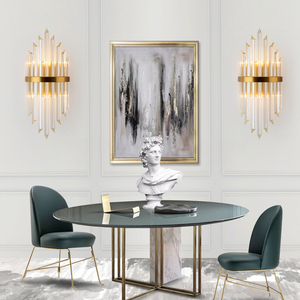 Image 2 - Youlaike Luxury Gold Wall Lamp Modern Crystal Wall Sconce Lighting Fixture Living Room Bedside Stainless Steel LED Wall Light