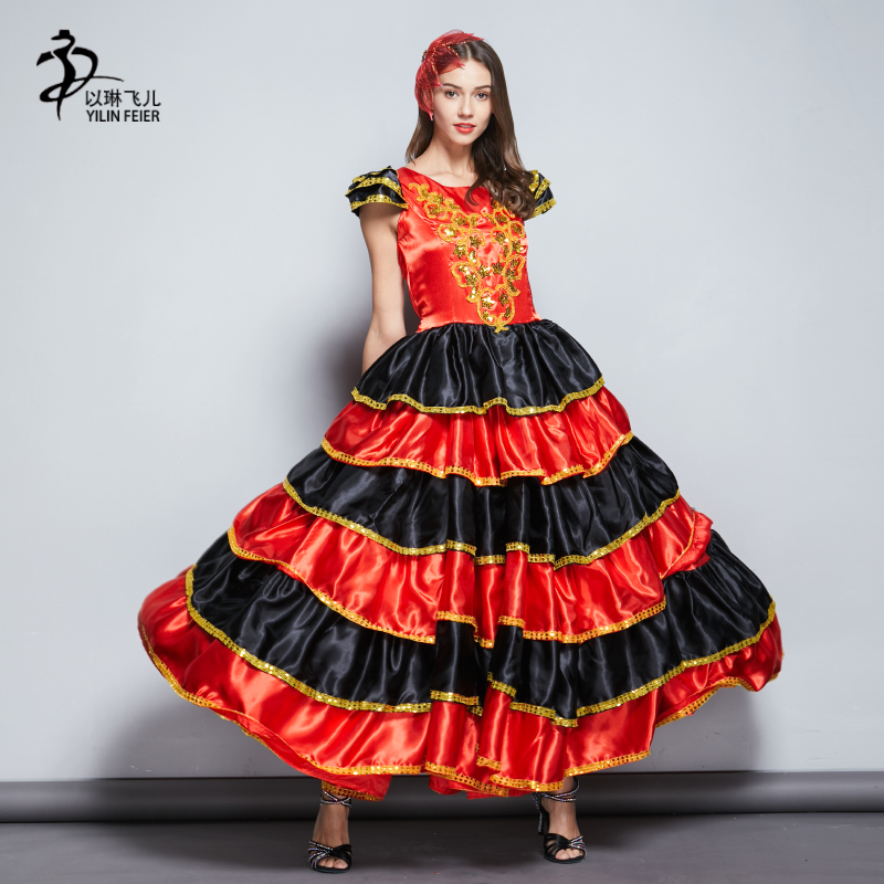 801844100d3f7 Rumba Dancer UK 22 24 Ladies Spanish Fancy Dress XL Adult Women Flamenco  Costume Kostüme Möbel ...