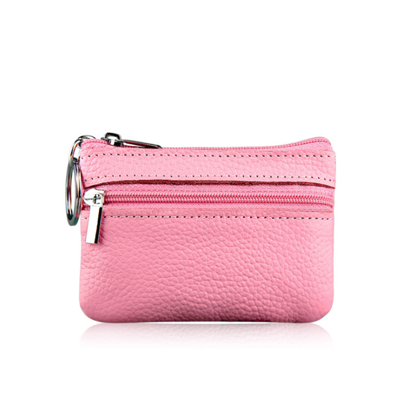 Brand Luxury 100% Genuine Leather Wallet Women Purses Coin Purse Pink Small Wallet Ladies Purse For Girls Mini Money Bags 2019