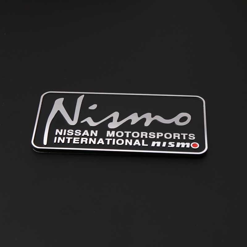 80 * 39 mm automóvil emblemas Nismo Logo Car Styling auto adhesivo brillante de