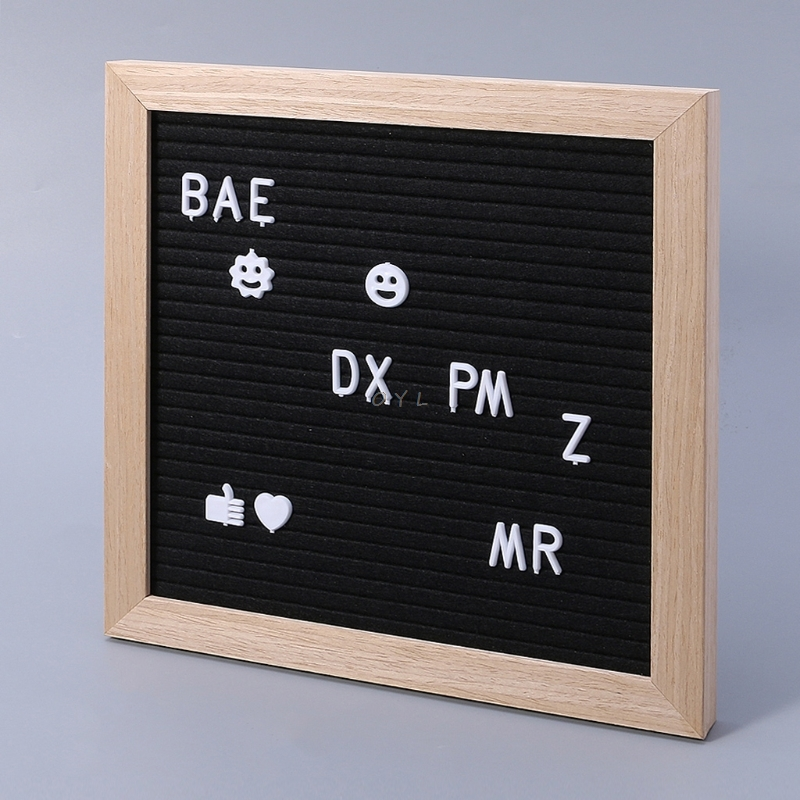 Felt Message Board Decor Board Frame White Letters Symbols Number Characters Bag free shipping