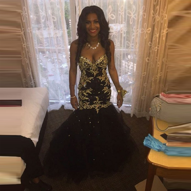 Pictures Of Black And Gold Plus Size Prom Dresses 2017 Kidskunstfo