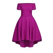 European Fashion Elegant Dress Women Off Shoulder Tunic Sexy Dresses Irregular Pleated Short Sleeve Short Mini Blue Dress