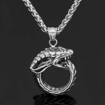 Nordic Wolf Fenrir Fenrisúlfr Vanargand Amulet Pendant Necklace  Viking Necklace