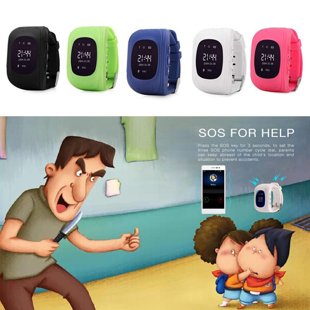 New Q50 Children Smartwatch Soft Silicone Wristband Waterproof GPS Locator Tracker AntiLost Smartwatch Kid Guard For IOS Android