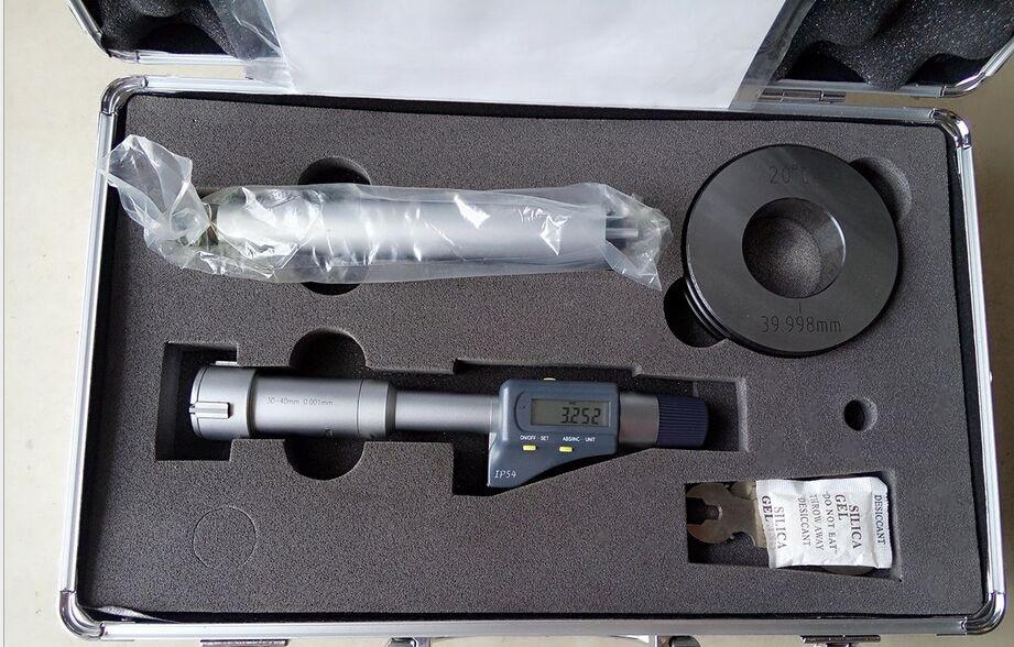 Electronic three points internal micrometer Range 4 5mm INSIZE IP54 High precision digital measuring tooling