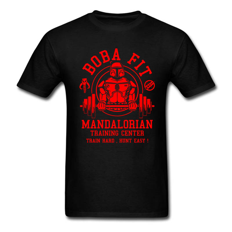 2017 Hot Sale Fashion Boba Fit T Shirt Mens Star Wars Mandalorian Traininger Center Tops Tee