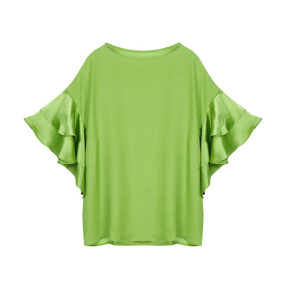 100% soie douce chemise été automne nouveauté 2018 femmes chemise solide Blouse féminine Harajuku Style coréen mode Streetwear