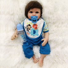цена на hot sale BeBe Reborn Doll petite 0-5month 50cm Silicone Reborn Baby Dolls girls toy  Lifelike Newborn Baby Gift boy Babies Toys