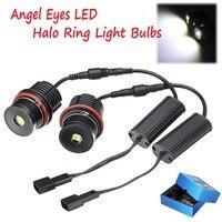 2pcs 80W Angel Eyes Error Free LED Halo Ring Light Bulbs For BMW E39 E53 E60 E63 Super Bright Car Front Light Lamp Headlight