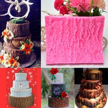 Silicone Cake DIY Baking Pastry Mold 3D Tree Bark Pattern Fondant Decorating Mould Tools LBShipping