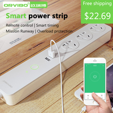 цена на For ORVIBO E10/E11 Smart Home Automation System Socket Plug WiFi Power Remote Control 4-Outlet Power Socket For IOS Android