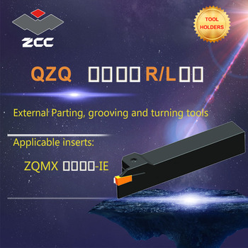 ZCC CNC lathe tool holder QZQ- tungsten carbide cutting tool plate tools holder external parting grooving and turning tools sracr 2525m08 external turning tool holder a rotacao do porta ferramenta and lathe tool holder for round carbide inserts
