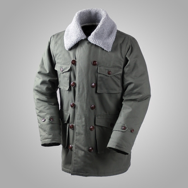 Deutsch Connie Großen Military Jacke M1909 Kampf Mantel Winter männer Armee Outwear