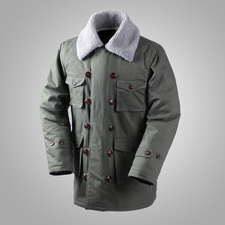 German Connie Major Military Jacket M1909 Combat Coat Winter Men's Army Outwear