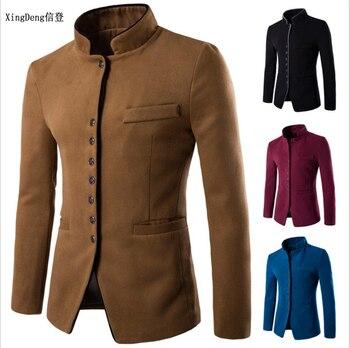 XingDeng Güz 2018 erkekler Çin takım elbise ceketler Blazer Kaliteli Blazers Slim Fit pamuklu bluz Ceket Kostüm Homme giyim
