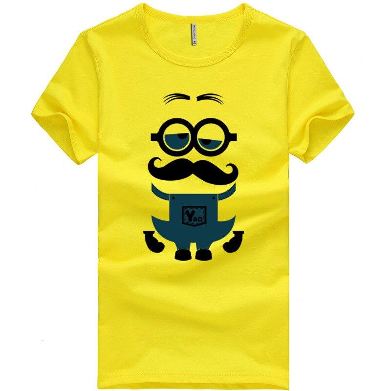 Nuevo verano camisetas amarillas de dibujos animados