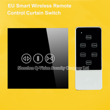 EU Type Smart Home Wireless Remote Control Curtain Wall Touch Switch RF433MHZ via Broadlink RM2 RM Pro Geeklink 1 Year Warranty