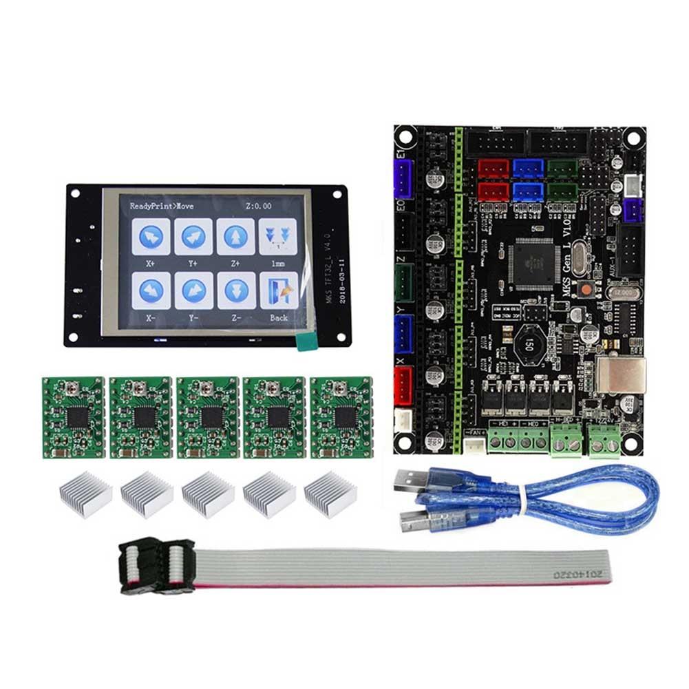 MKS GEN L MKS TFT32 LCD Minipanel écran tactile Kits d'impression 3D avec pilote A4988 QJY99