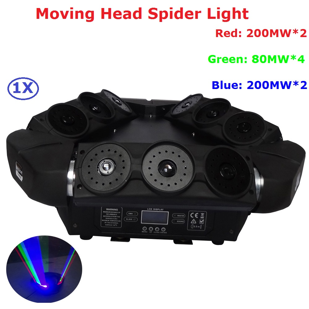 Carton Package 1Pcs Moving Head Laser Light 1120MW RGB Full Color Beam Lights Professional Stage Party Dj Laser Shows Equipments laser head cdm12 1 05