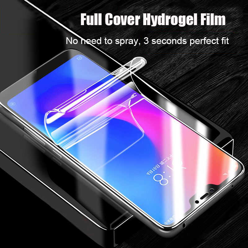 Protective Film Curved Soft Hydrogel Film For Xiaomi 9 8 Lite Mix 3 Max 3 PocoPhone F1 Screen Protector For Redmi Note 7 6 5 Pro