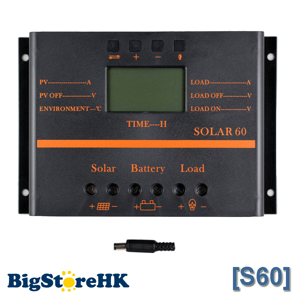 60A USB Solar Controller Carregador Solar Intelligent PWM Charging Mode Light Timer Control 60A for Led Light Solar Controller vs6024bn 60a pwm controller network access computer control can connect with mt50 for communication