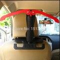 Frete Grátis Nova Marca Universal Dobrável Cabide de Carro Gancho de Volta lidar com Roupas carro rack de roupas e gancho 2 cor vermelho preto