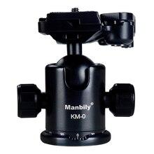 Manbily KM-0 Cabeça do Tripé de Câmera Digital SLR PTZ 360 Graus Panorâmica Tiro