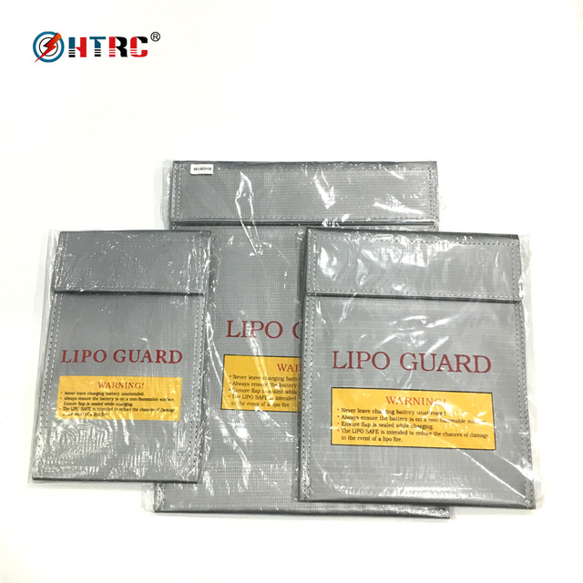 US $6 4 |HTRC LiPo Guard Safety Bag for Lithium Battery Storage and  Charging Fireproof Blast Proof S 21x13 M 21 4x18 L 30 3x23 cm-in Parts &